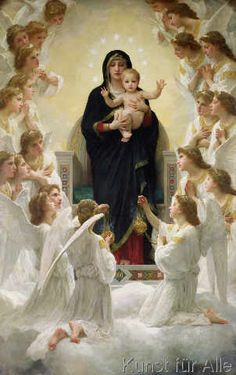 William-Adolphe Bouguereau - The Virgin with Angels, 1900