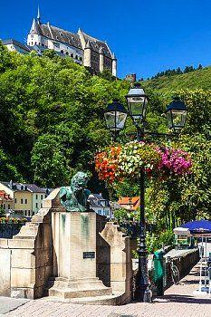 Vianden: Château à Vianden, Luxembourg