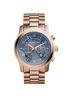 Watch Hunger Stop Oversized Runway Rose Gold-Tone Watch