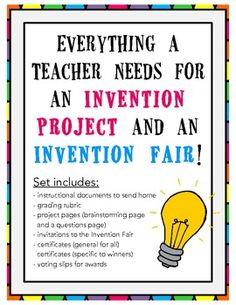 Invention Project and Invention Fair Pack!  Everything you