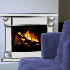 Check out this Fireplace Sticker