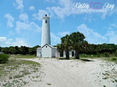 #Florida #lighthouse #beach #sand #bluesky #clouds #EgmonetKeyLight #travelphotography #travel #palmtrees #Etsy #ArtForSale#photography #WallArt #HomeDecor ©Kirsten Ray Photography