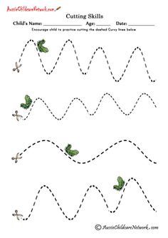 cutting curvy lines worksheets