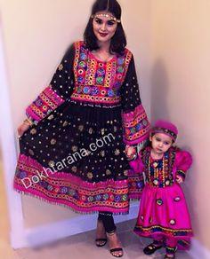 #cute #mom #daughter #afghani #dress #pink