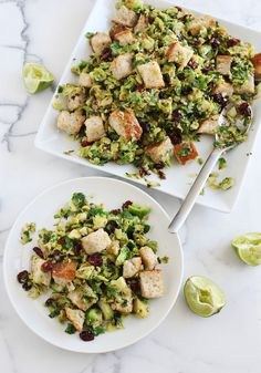 Warm Brussels Sprout Salad - A Beautiful Mess