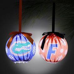 Florida Gators 6-Piece LED Boxed Ornament Set - Royal Blue/Orange
