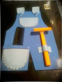 Cute for Father's Day! Crafts To Do, Crafts For Kids, Paper Crafts, Popsicle Crafts, Father's Day Diy, Dad Day, Fathers Day Crafts, Mother And Father, Sunday School