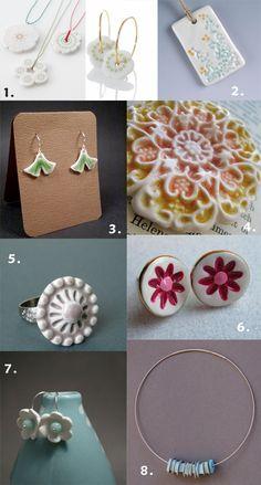 Ceramic or porcelain jewellery