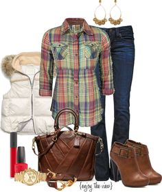 """""""casual plaid"""" by enjoytheview on Polyvore"""