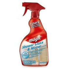 This specialized cleaner was created for shower glass. Use it to easily remove soap scum and hard-water stains and get a clean, clear streak-free shine.