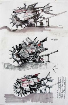 James Gurney's Sketches for Digging Leviathan