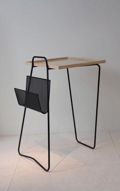 Mathieu Mategot,Table of ash top & lacquered metal Design Furniture, Vintage Furniture, Furniture Decor, Modern Furniture, Design Industrial, Mid Century Furniture, Furniture Inspiration, Mid Century Design, Wood And Metal