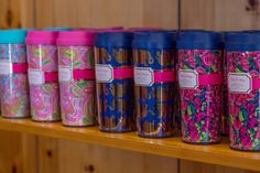 Lilly Pulitzer tumblers are a great gift idea for a friend, family, secret santa or white elephant gift!