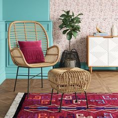 Lily Rattan Arm Chair with Metal Legs - Opalhouse™ : Target