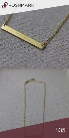 Stella & Dot custom engraved necklace My favorite saying is Sparkle & Shine... so I had it engraved on a necklace. This is very special and one of a kind. Never worn. Layer with your favorite items. Gold. Stella & Dot Jewelry Necklaces