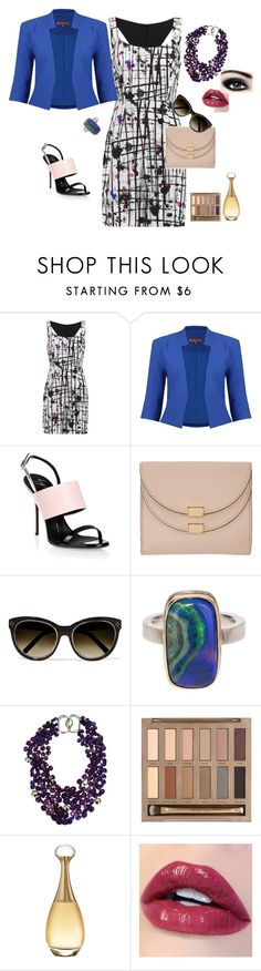 Wyjście by alazia-1 on Polyvore featuring moda, Milly, Jolie Moi, Giuseppe Zanotti, Chloé, Patricia von Musulin, Jamie Joseph, Urban Decay, Christian Dior and Max Factor