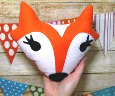 FOX Plush Toy Stuffed FoxWoodland Nursery by matildasworld15