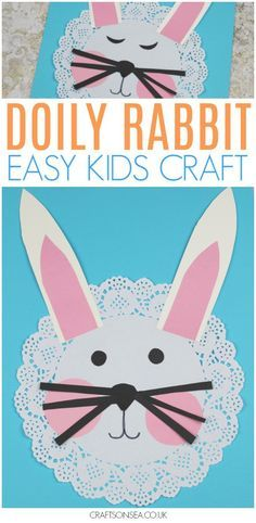 Possibly the cutest rabbit craft for kids? Perfect for spring or as a sweet Easter craft for kids this cute bunny is simple to make and only costs pennies. Perfect for toddlers, preschool or older kids too! #easter #kidscrafts #eastercrafts #easterbunny #spring