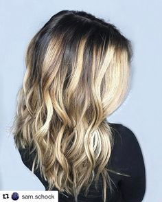 """127 Likes, 2 Comments - B A L A Y A G E • I N S P O (@bestofbalayage) on Instagram: """"#Repost @sam.schock ・・・ ✨I did some p e r f e c t 👏🏻👏🏻 hair on an amazing💕💕 hair stylist today!…"""""""