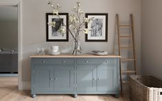 Top Best Dining Room Furniture – Best Dining Tables Love the colour of this sideboard – looks similar to Farrow & Ball 'Pigeon' Living Room Furniture Collections, Sideboard Decor, Kitchen Sideboard, Dining Room Furniture, Painted Sideboard, Furniture, Interior, Home Decor, Living Room Furniture