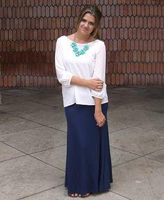 Solid Navy Blue Maxi Skirt : Cute Aprons - Cute Dresses - Cute Maxi Skirts - Cute Gifts - Daisy Shoppe