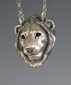 Handcrafted animal totem jewelry, silver lion jewelry, lion totem. OMG! I want this so badly....sigh.