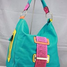 This crazy bright bag would certainly wake me up!    Seen on eBay.