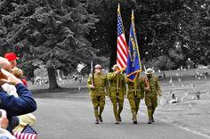 Memorial Day Ceremony, Lakewood, Wa  by Liz Jackson
