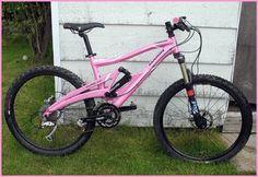 "My new ""new to me"" full suspension mountain bike - I LOVE it... christened ""Ashako padawan"" (jedi in training) by my son"