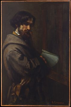 Gustave Courbet (French, 1819–1877). Alphonse Promayet (1822–1872), 1851. The Metropolitan Museum of Art, New York. H. O. Havemeyer Collection, Bequest of Mrs. H. O. Havemeyer, 1929 (29.100.132) #mustache #movember