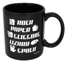 Amazon.com: Rock Paper Scissors Lizard Spock Mug-- Double Sided Coffee Mug With The Rules!!-- High Quality Mug Printed & Tested In The USA!! (11oz, Black Rock Paper Scissors Lizard Spock): Kitchen & Dining