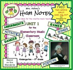 FREE to anyone who has purchased Units 2, 3, and 4 before July 31st. Please email me, mrsastonshighnotes@gmail.com and I will send you the long-awaited Unit 1. This unit completes the set of 4 units. The 180 pages include 94 pages of extensive lesson plans, 43 pages of activities, and 21 pages of songs and teaching posters.