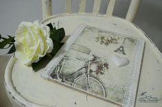 Shabby Chic wood plate - PARIS model