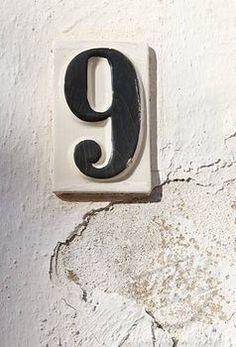 Ceramic number nine on whitewashed wall | Nine, Guido | Pinterest | Ceramica, Colori e Foto