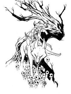 """Résultat de recherche d'images pour """"mononoke white black"""""""