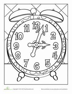 Clock Coloring Page Coloring Pages Clock Clock Face Printable