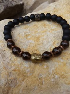 CHRISTMAS SALE 15% Buddha Bracelet Yoga by BohemianChicbead