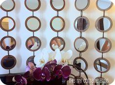 mirrored artwork Z Gallerie-style