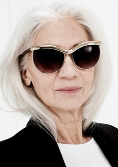grey hair and style
