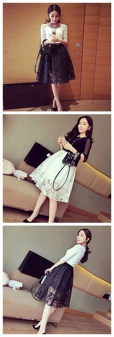 Super feminine lace skirt