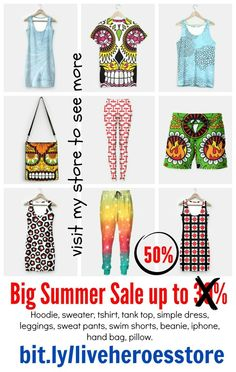 #summersale #sale #fashion up to 50% on my #liveheroes store