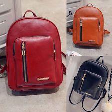 Girl School Bag Travel Leather Backpack Satchel Womens Shoulder Rucksack Handbag