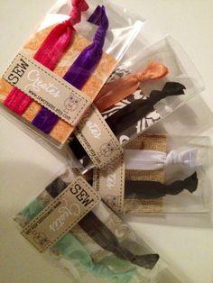 Elastic Hair Tie/Bracelet Duo Sampler by sewcreates on Etsy, $2.50