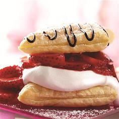 Strawberry Napoleons | #strawberry #chocolate #napoleon