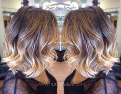 Ombre Color on Short Hair Style