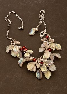 bridal necklace  nature inspired jewelry  by CherylParrottJewelry, $84.95