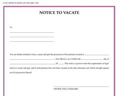 printable sample vacate notice form httpwesternmotodragscomeviction notice
