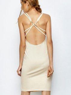 #Zaful - #Zaful Backless Midi Bodycon Dress - AdoreWe.com