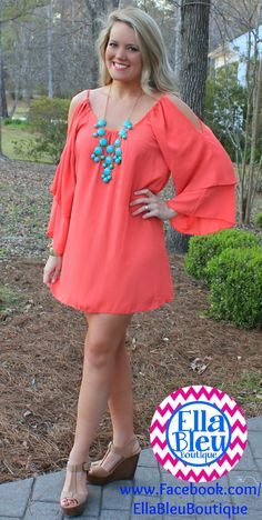 Take this dress from the Beach to the Bar! LOVE IT! Shop Boutique clothes on FB at Ella Bleu! www.Facebook.com/EllaBleuBoutique
