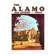 #Alamo San Antonio Texas travel postcard - #travel #trip #journey #tour #voyage #vacationtrip #vaction #traveling #travelling #gifts #giftideas #idea